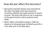 how did war affect the germans1