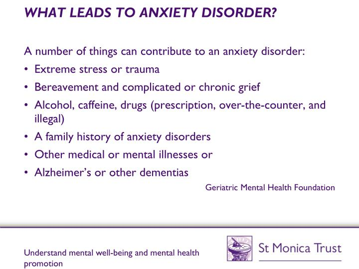 WHAT LEADS TO ANXIETY DISORDER?