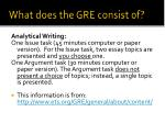 what does the gre consist of2