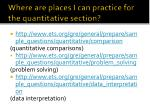 where are places i can practice for the quantitative section