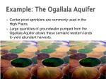 example the ogallala aquifer