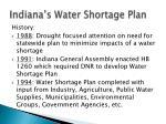 indiana s water shortage plan