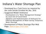 indiana s water shortage plan1