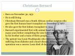 christiaan bernard