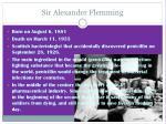 sir alexander flemming