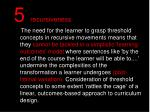 5 recursiveness