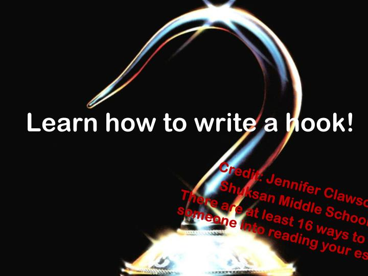 learn how to write a hook n.
