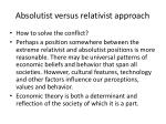 absolutist versus relativist approach1