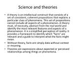 science and theories