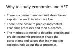 why to study economics and het