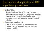 specific clinical application of abr in pediatric populations1