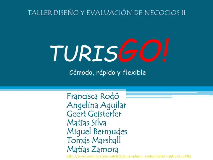 turis go c modo r pido y flexible n.
