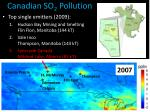 canadian so 2 pollution