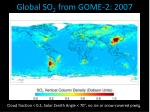 global so 2 from gome 2 2007