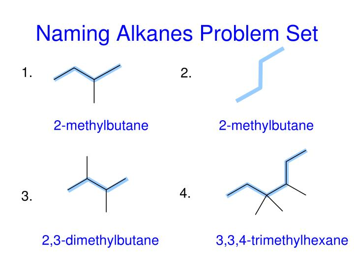 naming alkanes problem set n.