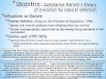 objective summarize darwin s theory of evolution by natural selection