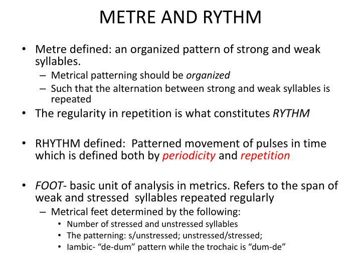 METRE AND RYTHM