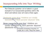 incorporating info into your writing1