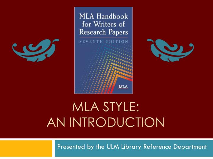 mla style an introduction n.