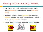 quoting vs paraphrasing when