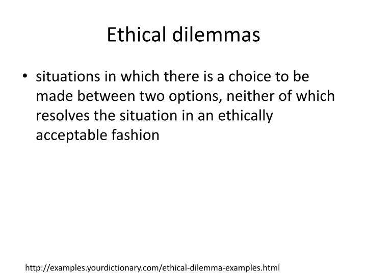 ethical situations examples