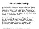 personal friendships