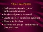 object description