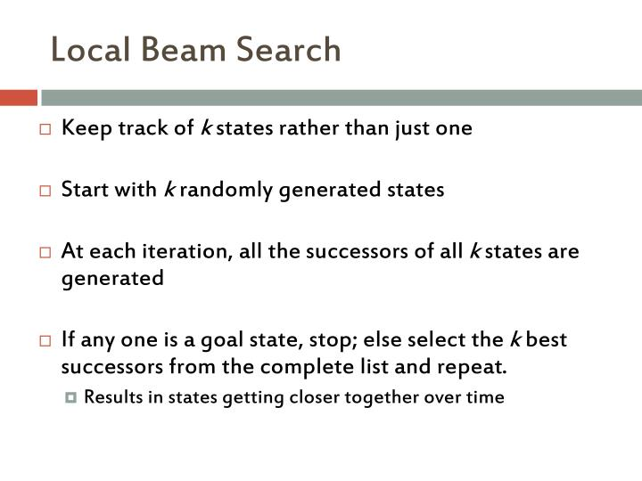 Local Beam Search