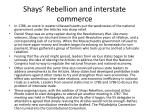 shays rebellion and interstate commerce