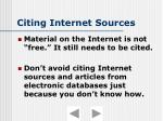 citing internet sources