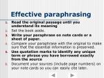 effective paraphrasing1