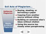 evil acts of plagiarism