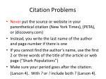 citation problems