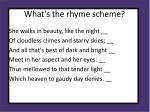 what s the rhyme scheme1