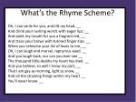 what s the rhyme scheme3