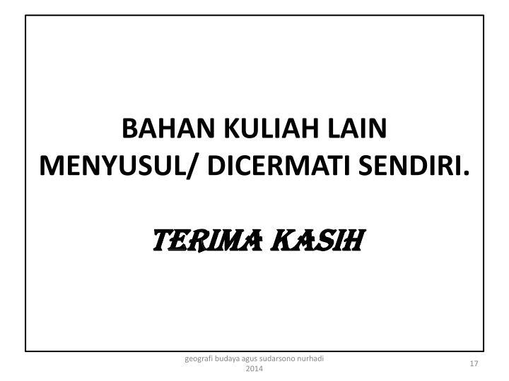 BAHAN KULIAH LAIN