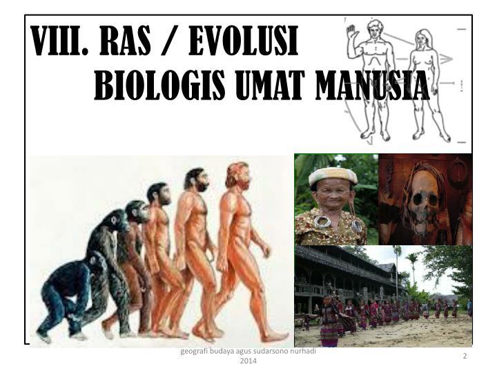 Vii i ras evolusi biologis umat manusia