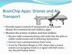 brainchip apps drones and air transport