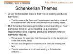 schenkerian themes