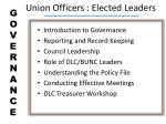 union officers elected leaders