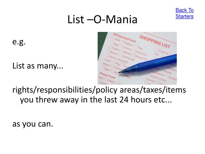 List o mania