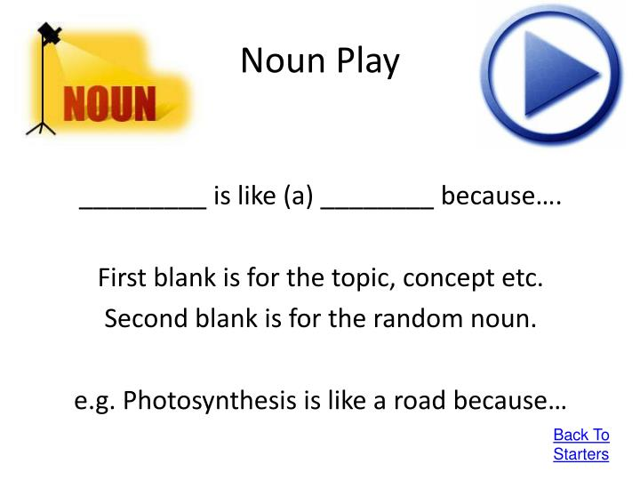 Noun Play