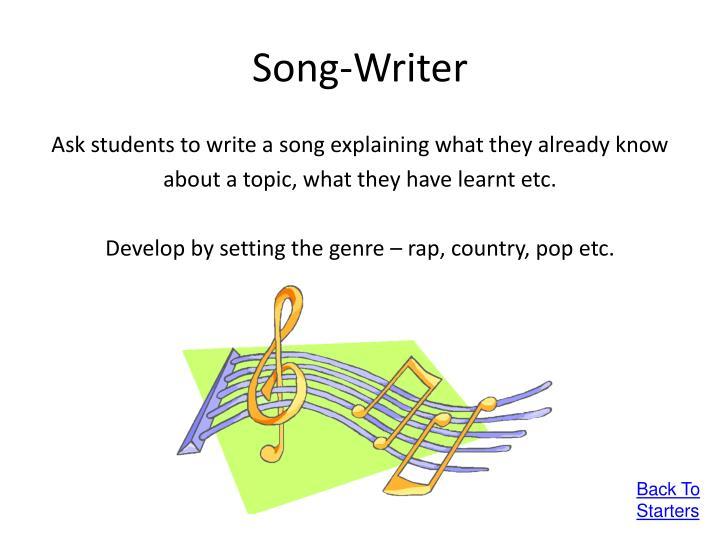 Song-Writer