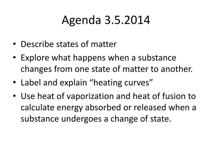 Agenda 3 5 2014