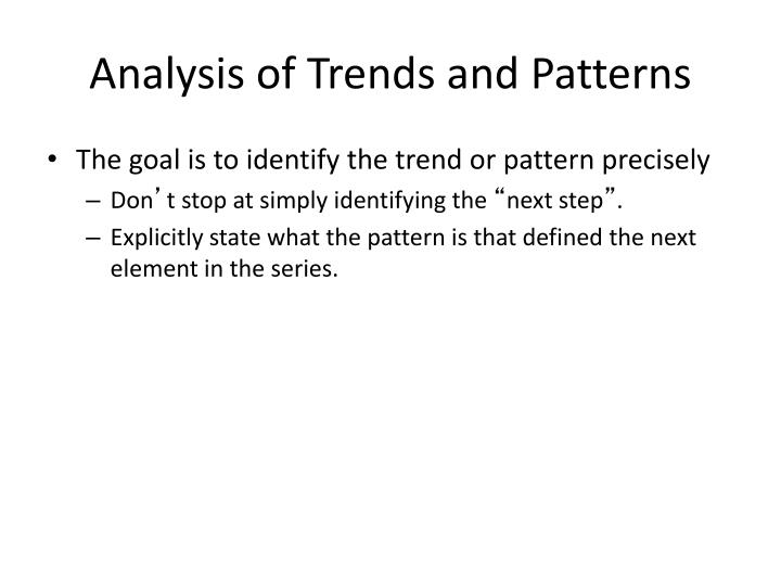 analysis of trends and patterns n.