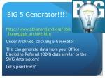 big 5 generator