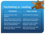 facilitating vs leading
