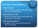 strategy meeting agenda cont