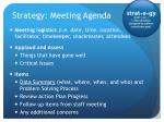 strategy meeting agenda