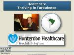 healthcare thriving in turbulence